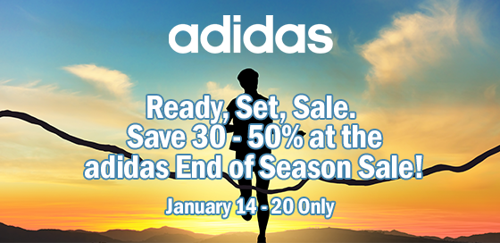 Save 30 - 50% at the adidas End of Season Sale