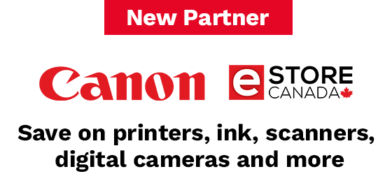 Save at the Canon e-Store