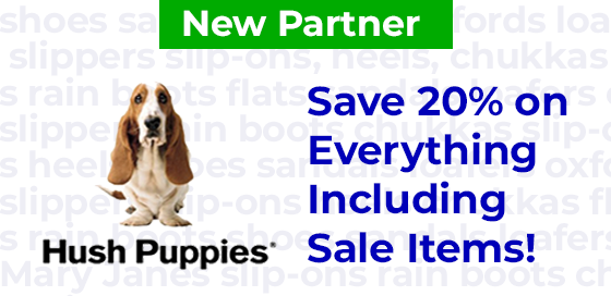 Save 20% on everything at Hush Puppies Canada