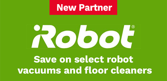 Save on select robot vacuums and floor washers