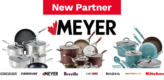 Save on cookware and bakeware at Meyer Canada