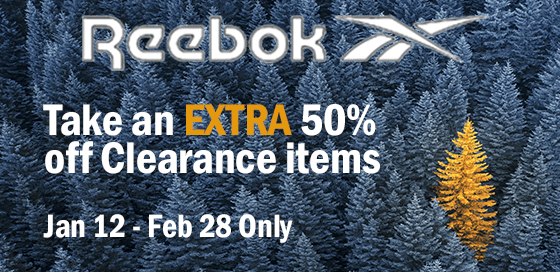 Save an extra 50% on clearance items at Reebok Canada