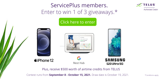 Win a device and a $500 credit in airtime from TELUS