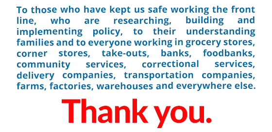 Thank you to everyone who has kept us safe.