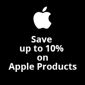 Save up to 10% on Apple Products