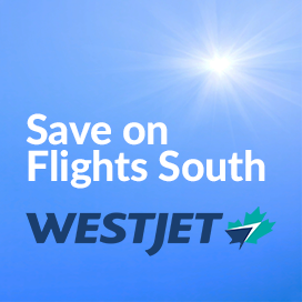 Save on Flights South with WestJet