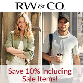 Save 10% at RW & CO, even on sale items