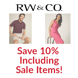 Save 10% at RW & CO