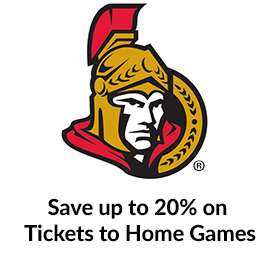 Save up to 20% on Home Games to see the Sens