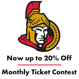 Ottawa Senators Logo. Save up to 20% on tickets. Monthly ticket contest.