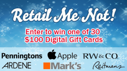 Enter to win one of 30 $100 gift cards