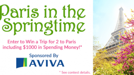 Win a trip for two to Paris, France and $1000 in spending money